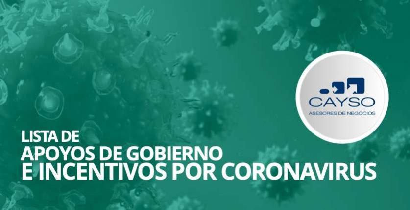 apoyos de gobierno por contintencia por coronavirus apoyos para empresas por contigencia